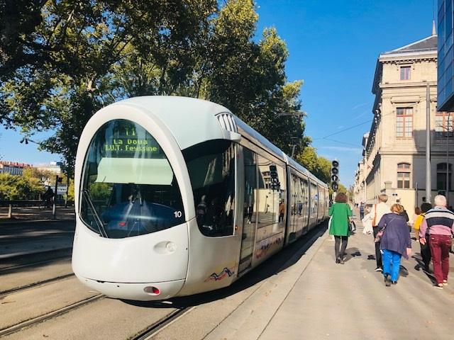 Moderna spårvagnar i Lyon
